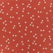 Tissu POPPY Triangles CORAIL