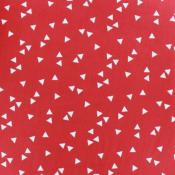 Tissu POPPY Triangles ROUGE