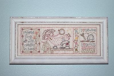 "Toile à Broder TheBirdhouse ""My heart sings"""