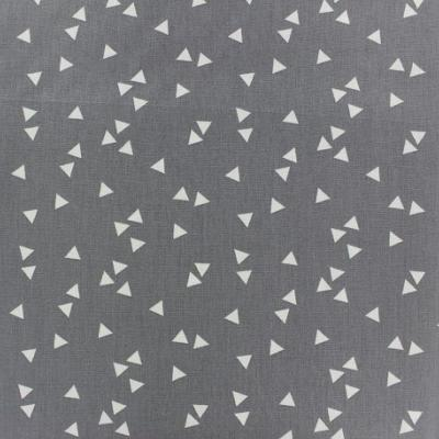 Tissu POPPY Triangles GRIS
