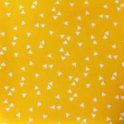 Tissu POPPY Triangles JAUNE