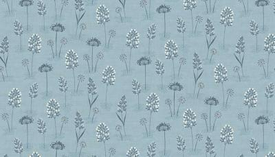 Tissu MAKOWER WOODLANDLAND GRASSES BLUE