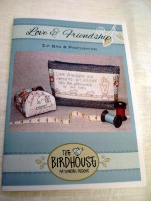 "The Birdhouse patchwork designs""Patron Trousse Love and Friendship """