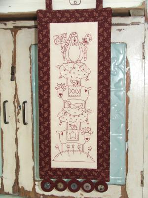 "Toile à Broder TheBirdhouse ""Deck The Halls"""